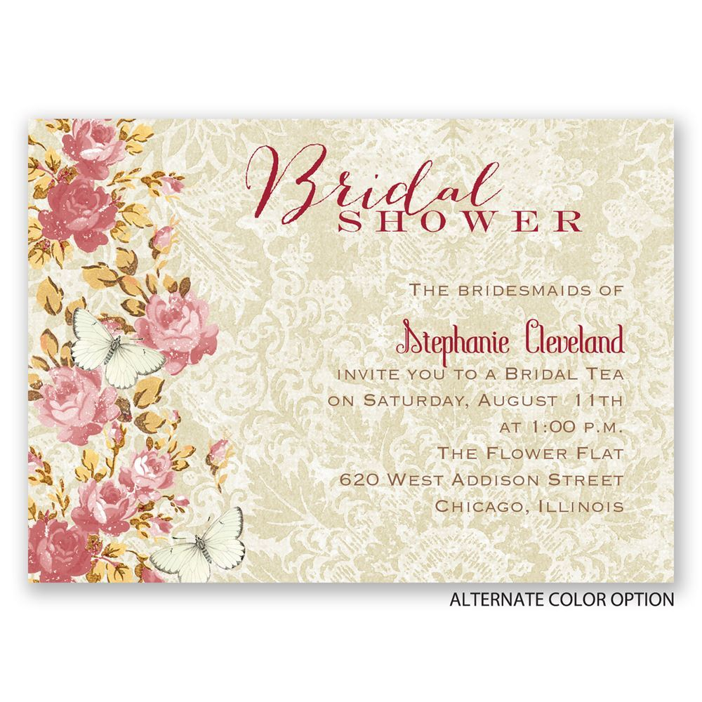 English garden mini bridal shower invitation invitations by dawn english garden mini bridal shower invitation filmwisefo