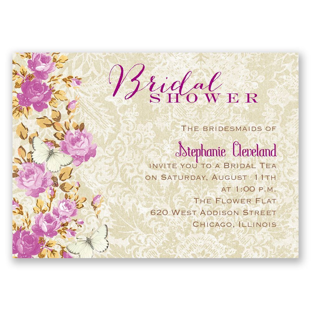 English garden mini bridal shower invitation invitations by dawn english garden mini bridal shower invitation stopboris Gallery