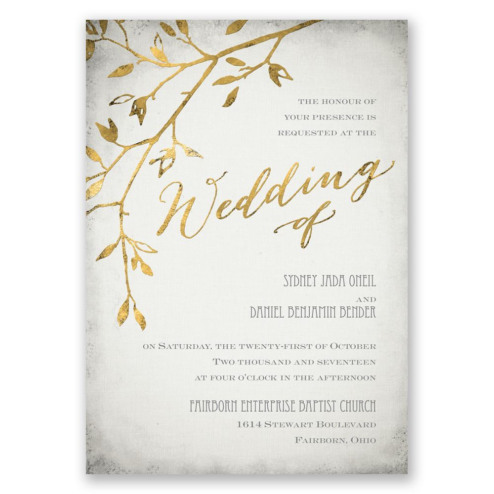 Leaves Of Gold Invitation