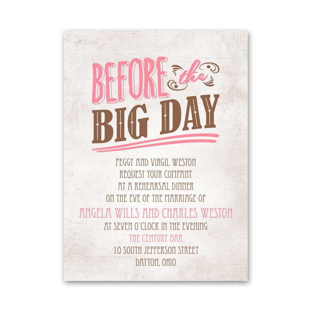 before the big day petite rehearsal dinner invitation invitations