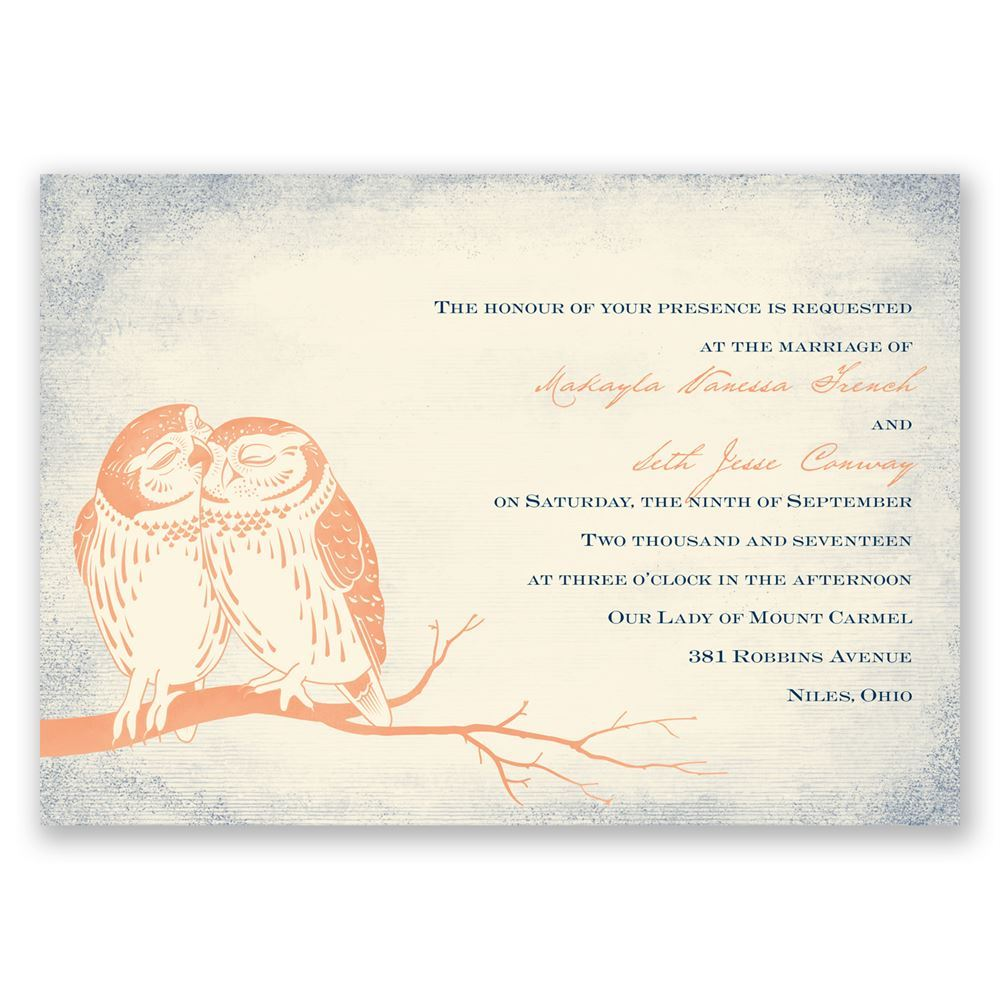 Owl Be Yours - Invitation
