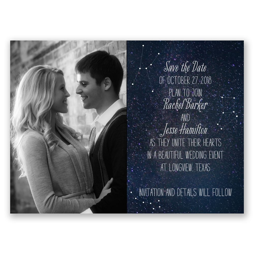Star Gazer Save The Date Card