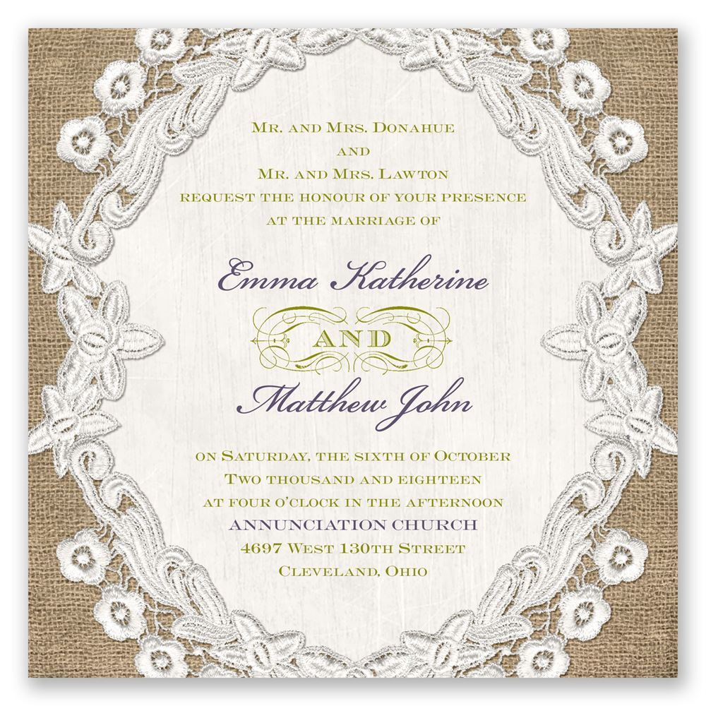 Embroidered embrace invitation invitations by dawn embroidered embrace invitation monicamarmolfo Image collections
