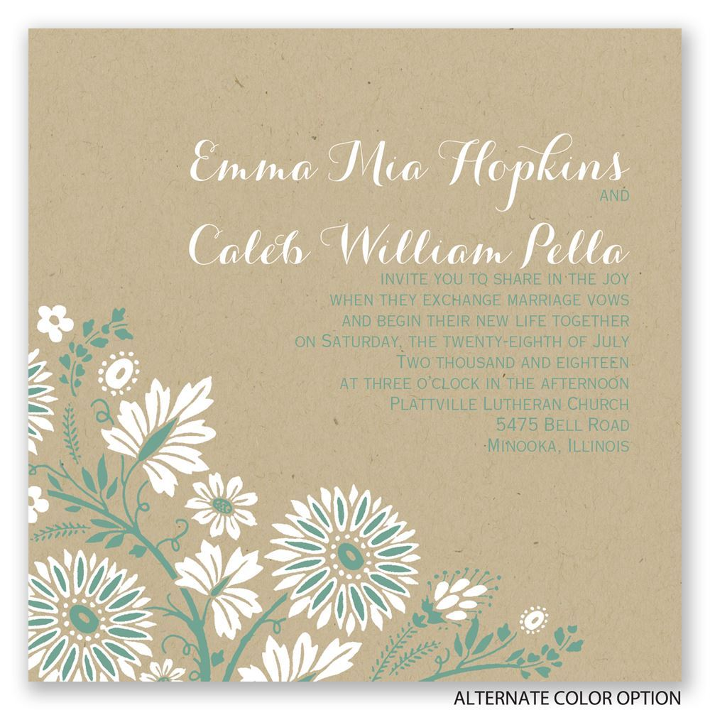 prairie floral invitation invitations by dawn