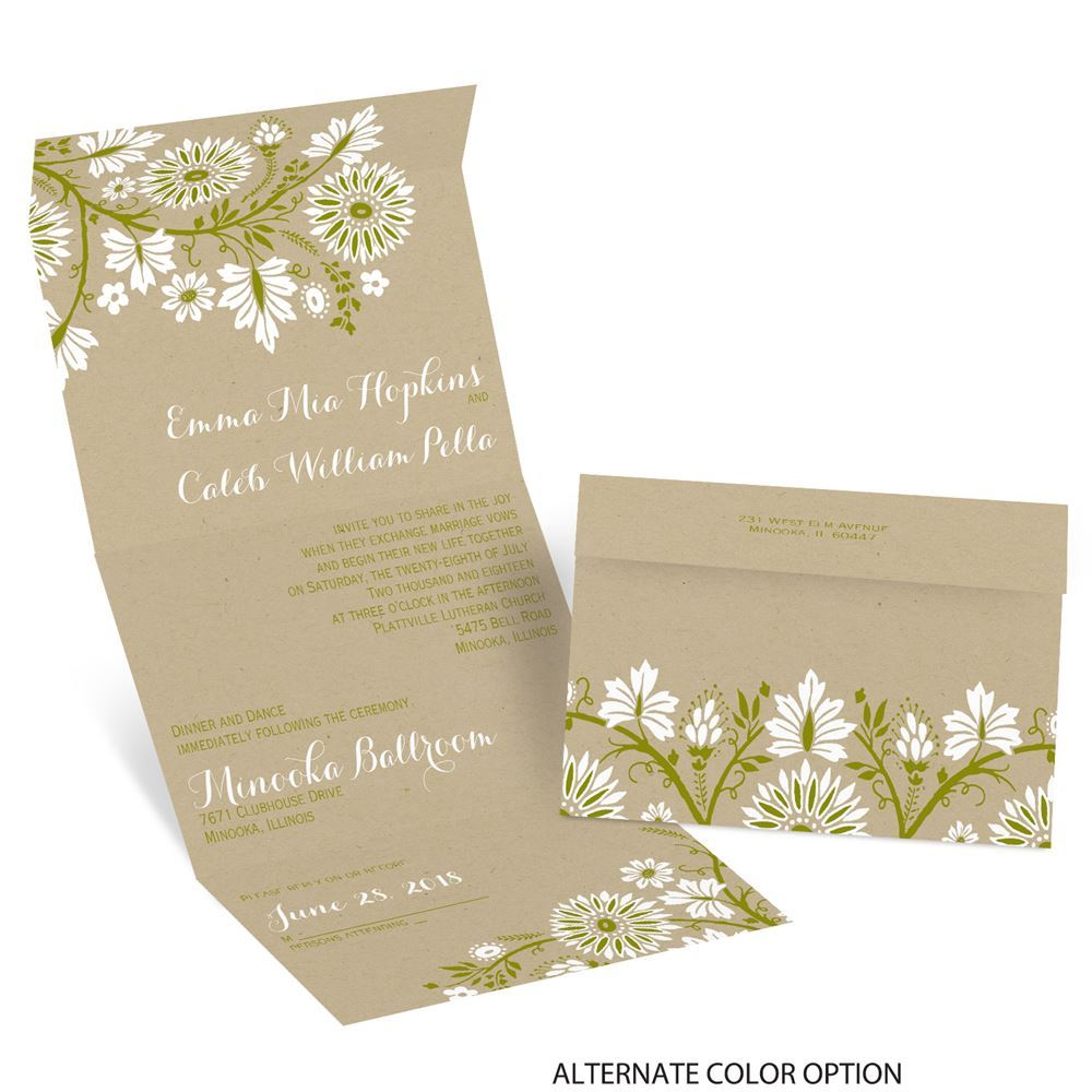 Prairie Floral Seal And Send Invitation