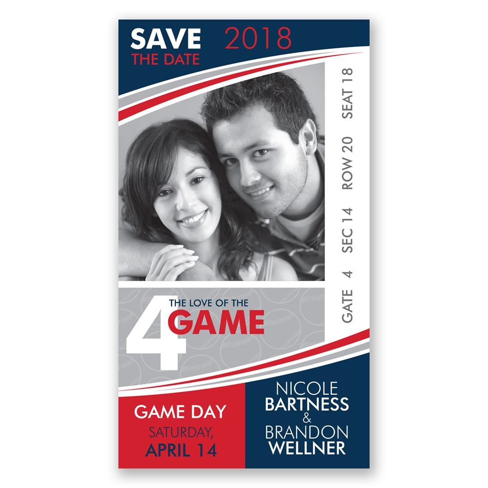 baseball save the date card invitations by dawn