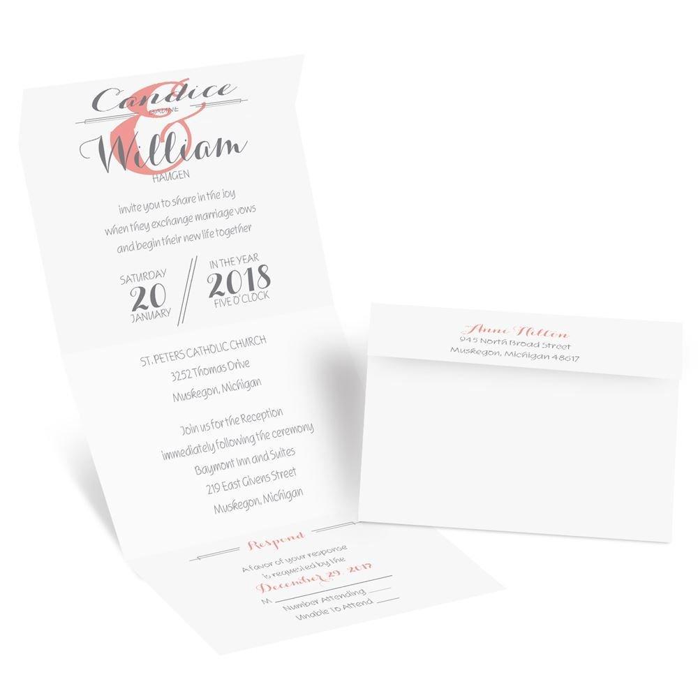 distinct style seal and send invitation invitations by dawn