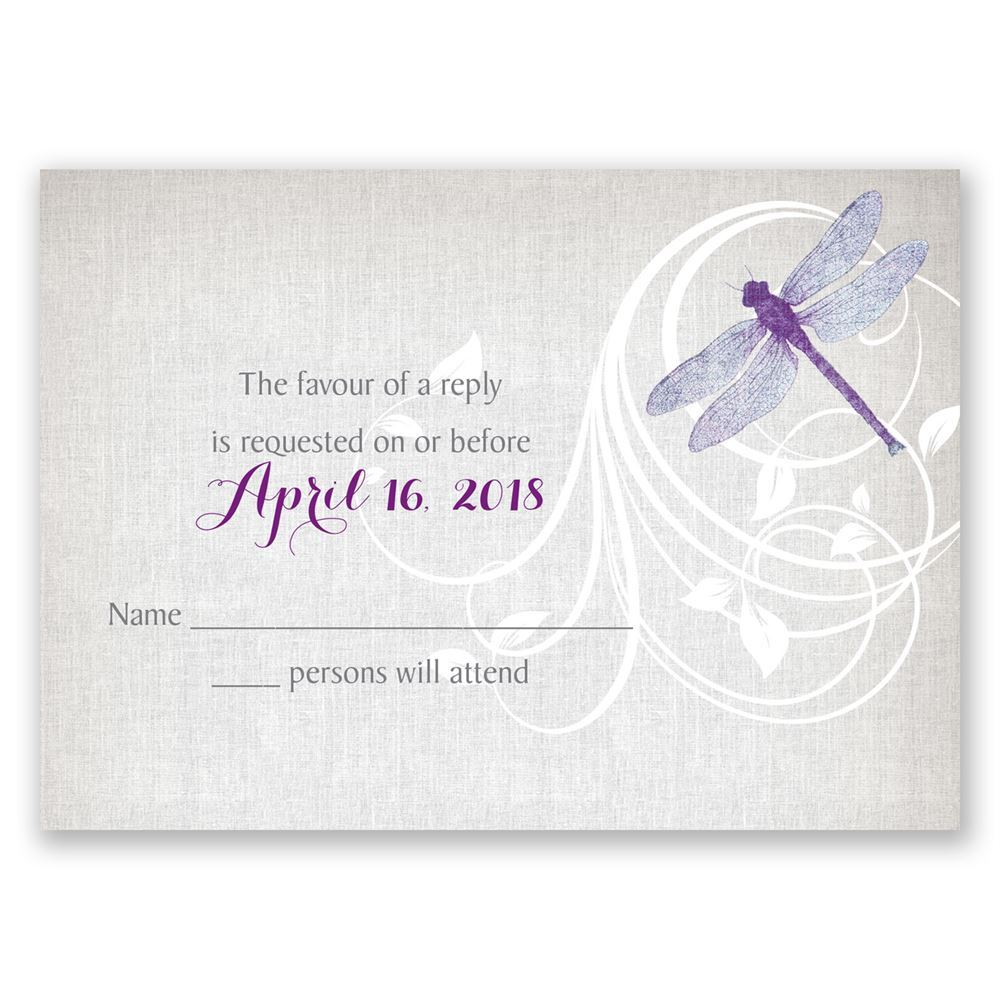 Dragonfly Pair Response Card | Invitations By Dawn