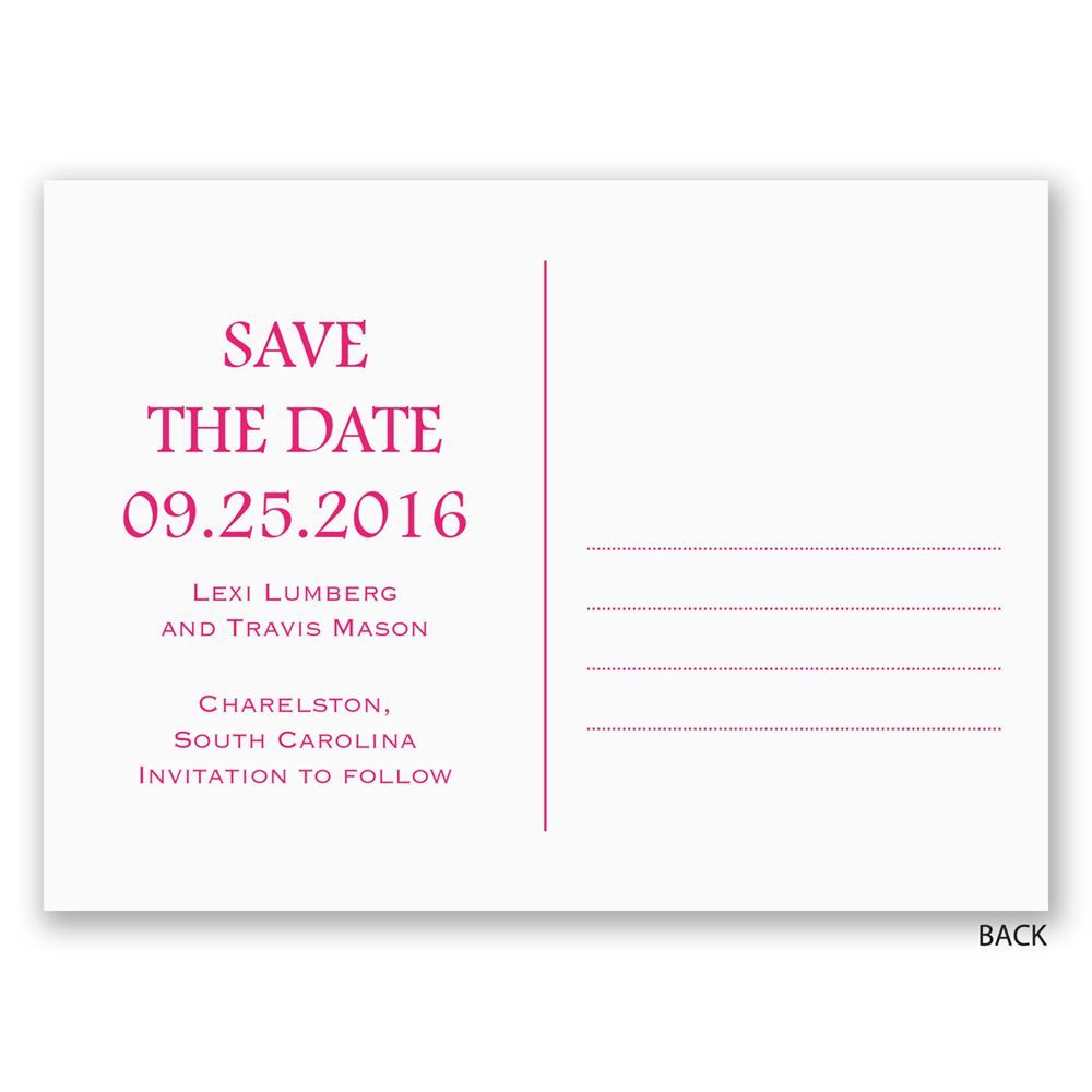 twice the love save the date postcard
