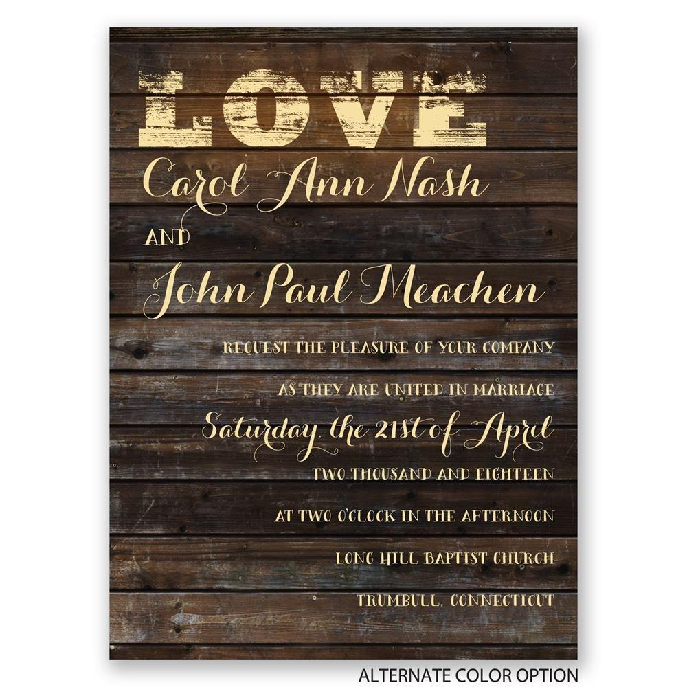 Cheap Country Wedding Invitations: On Board Petite Invitation