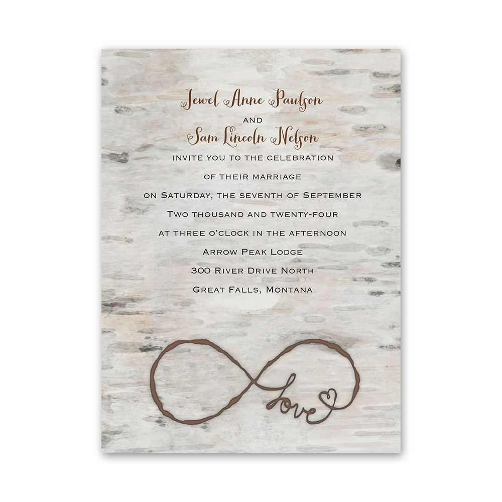 Love for Infinity Petite Invitation | Invitations By Dawn