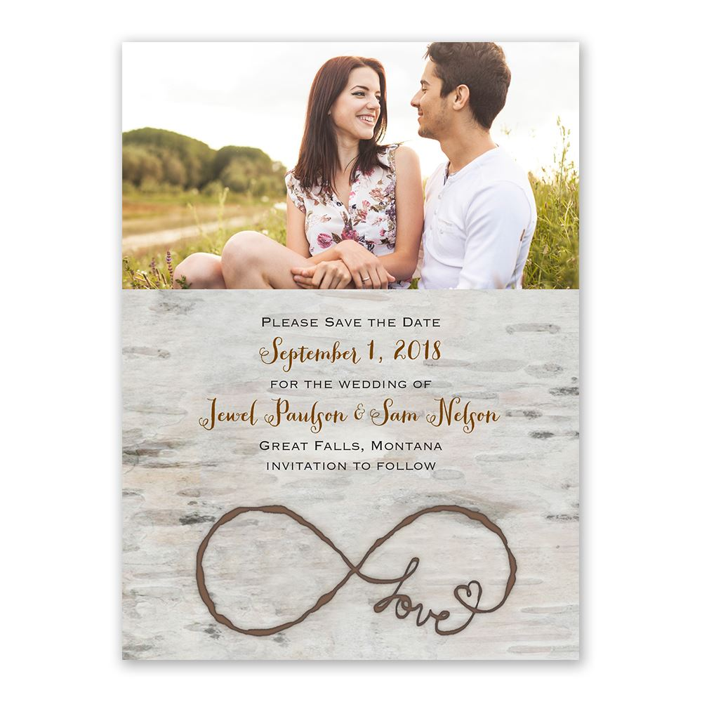 Golden Save The Date For Wedding Invitation Wedding: Love For Infinity Save The Date Card