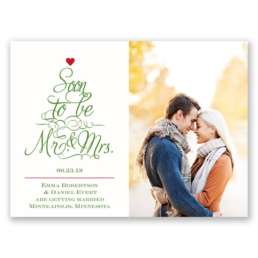 Top The Tree Holiday Card Save The Date Invitations By Dawn
