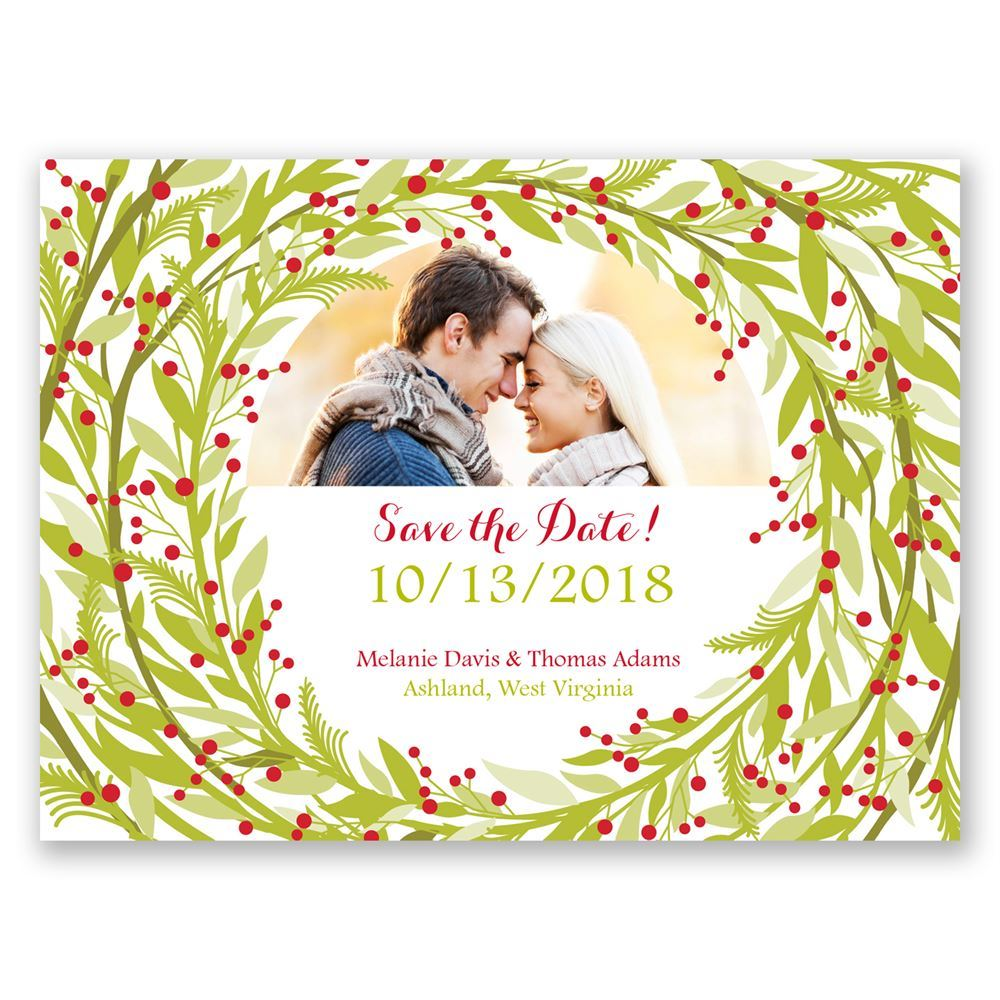Embrace the Season Holiday Card Save the Date | Invitations By Dawn