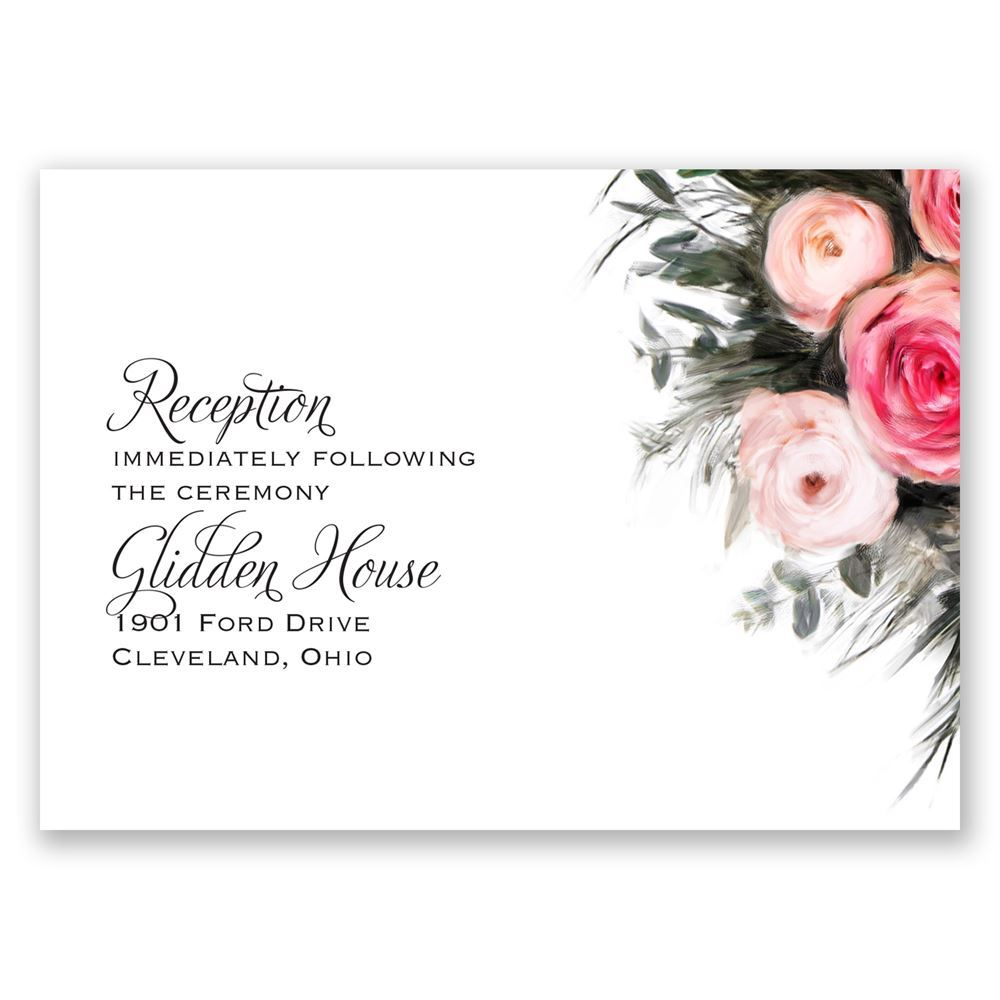 ethereal garden reception card invitations by dawn