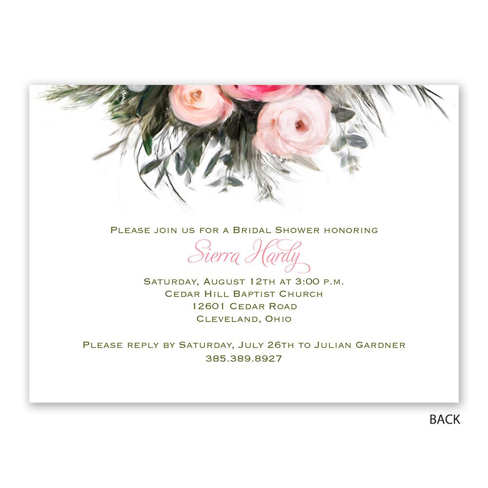 Ethereal Garden   Petite Bridal Shower Invitation