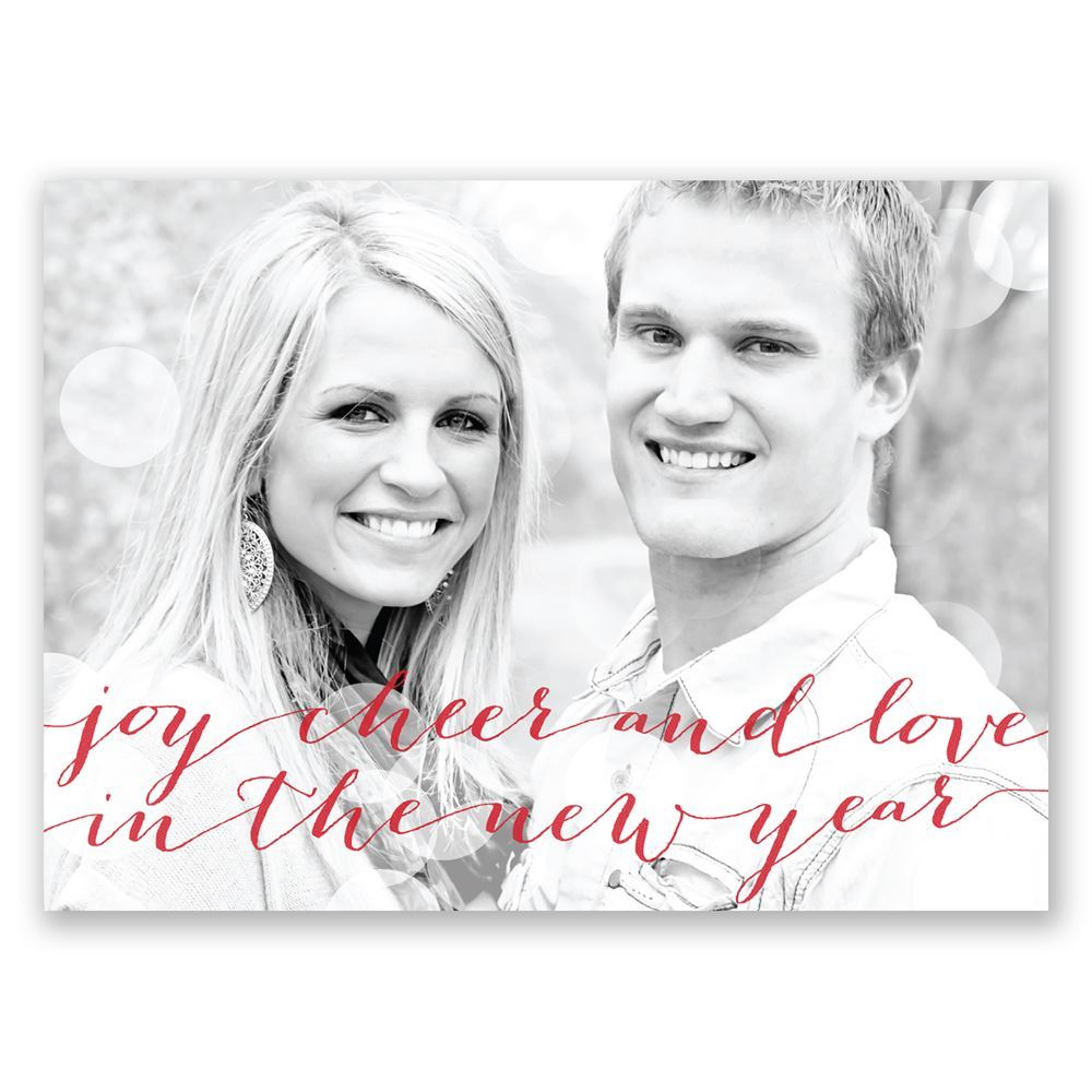 new year cheer holiday postcard save the date | invitationsdawn