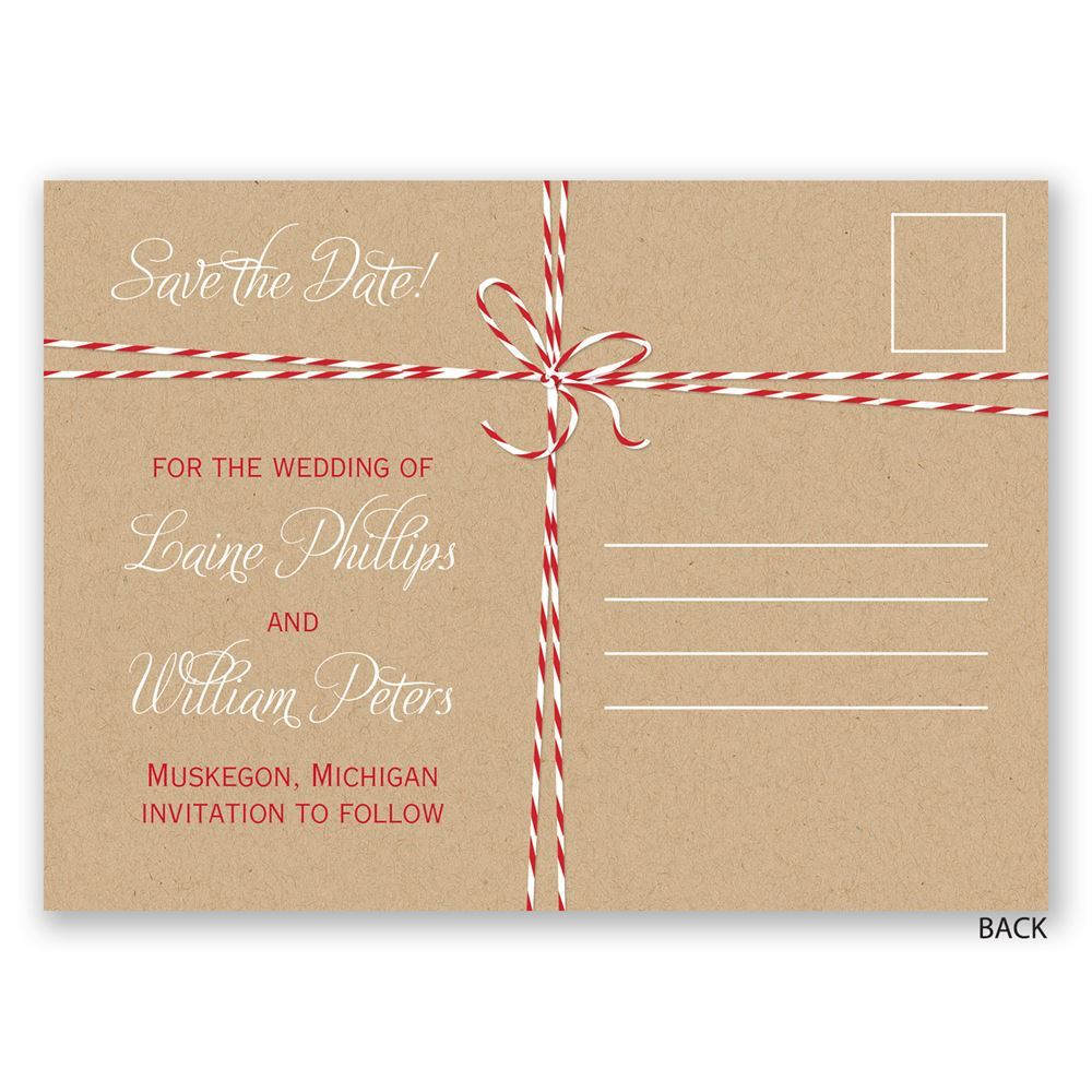 Bakers Twine Wedding Invitation: Bakers Twine Holiday Postcard Save The Date