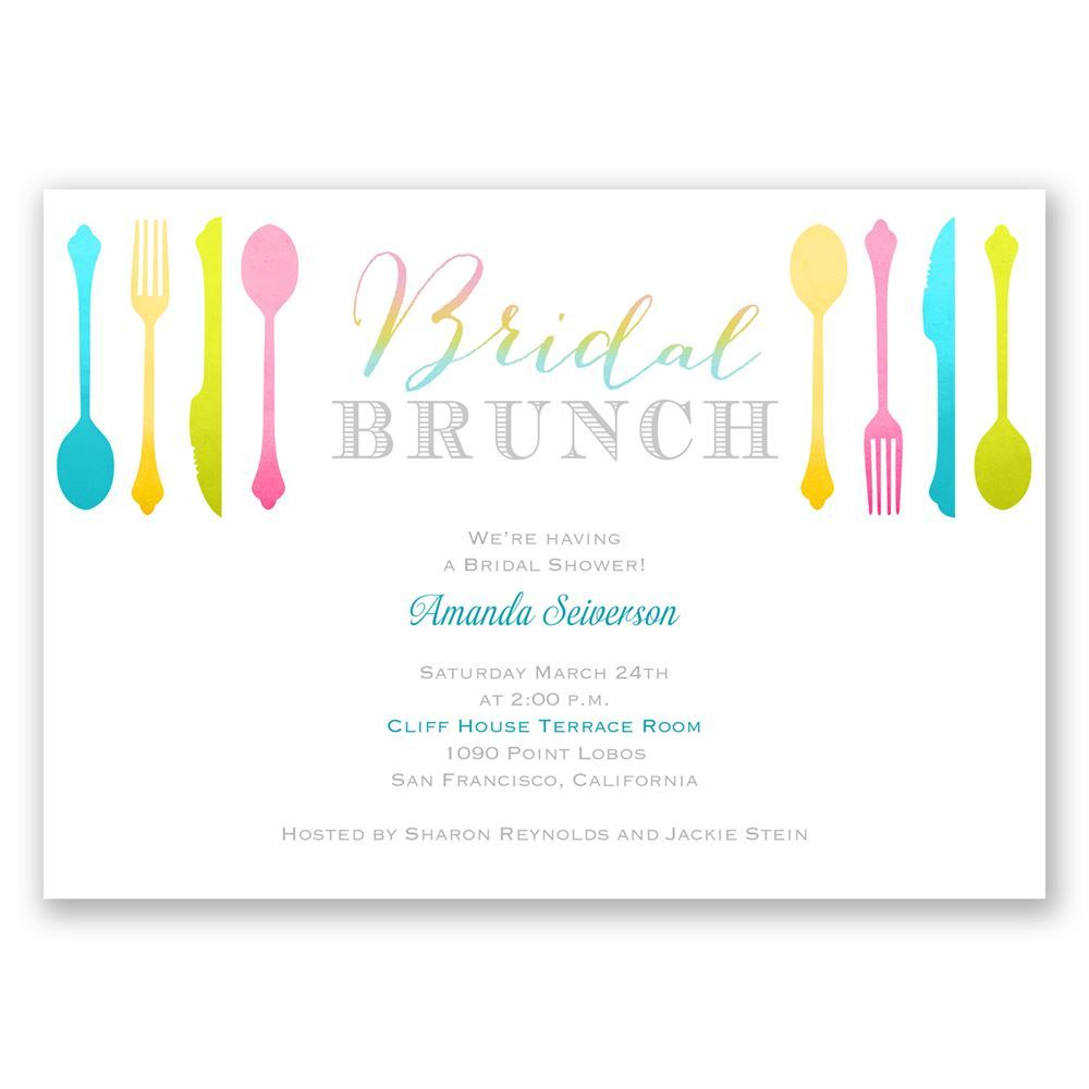 Bridal brunch bridal shower invitation invitations by dawn for Wedding brunch invitations