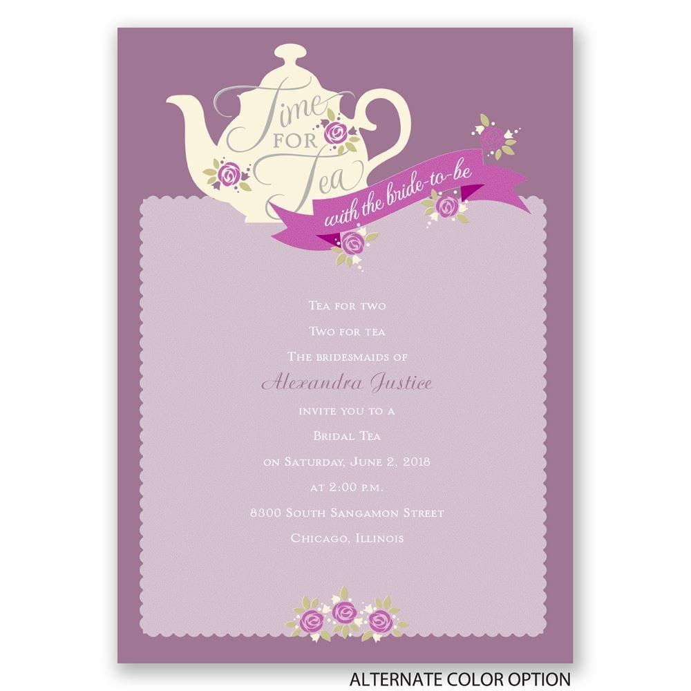 Time For Tea Bridal Shower Invitation Invitations By Dawn