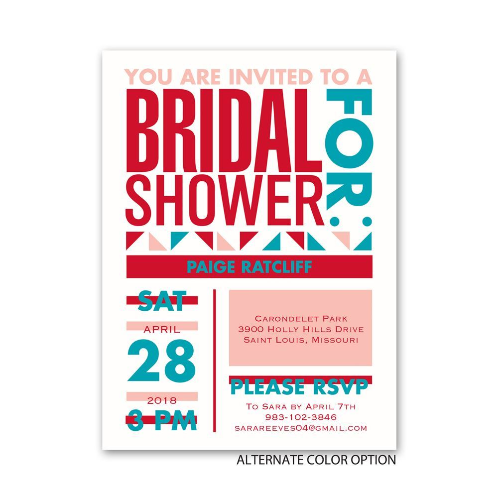 Neo Circus Petite Bridal Shower Invitation | Invitations By Dawn