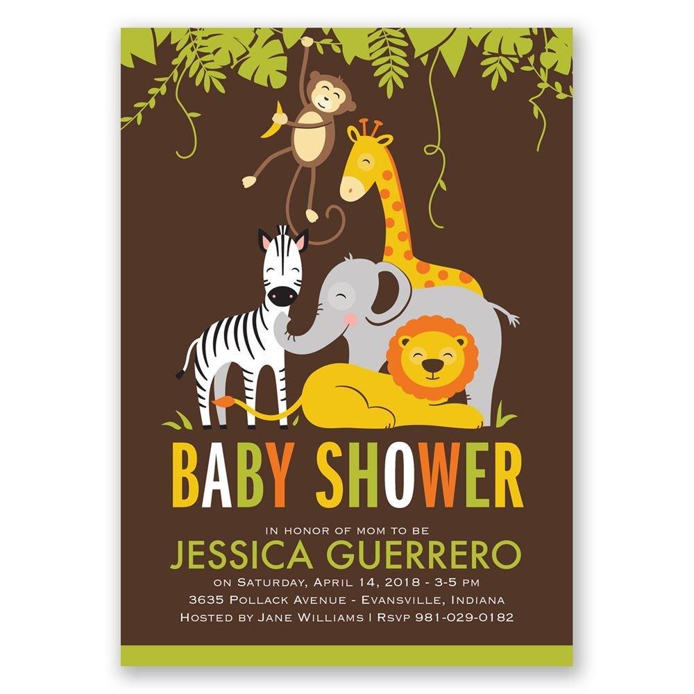jungle fun baby shower invitation invitations by dawn
