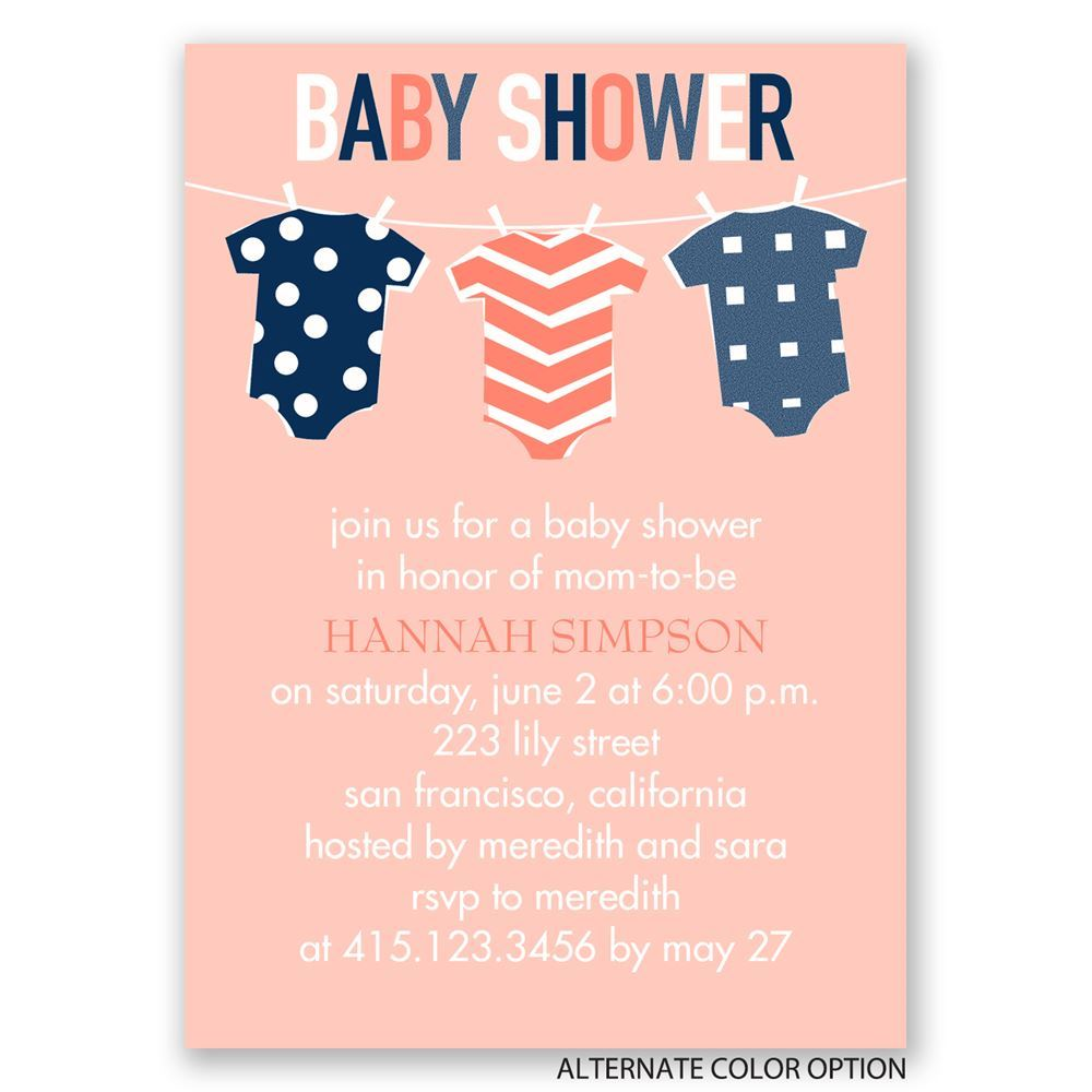 Baby Clothes Mini Baby Shower Invitation | Invitations By Dawn