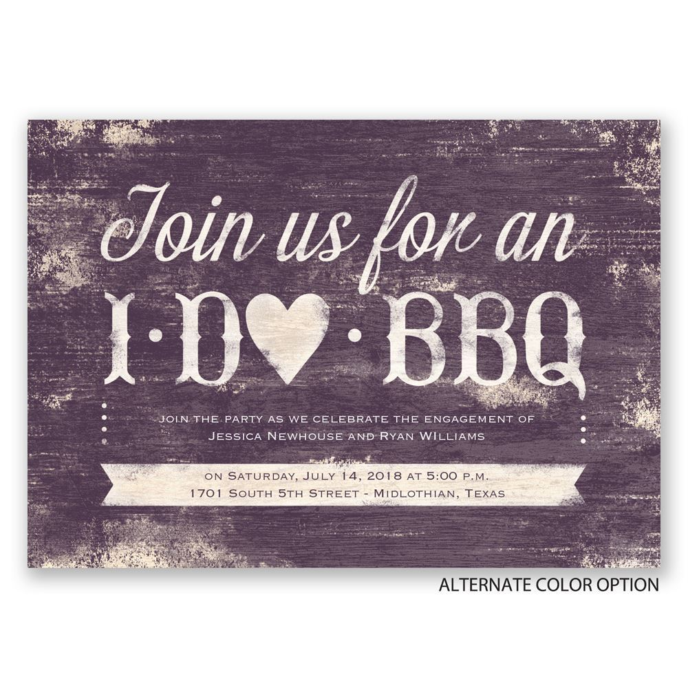 i do bbq engagement party invitation invitations by dawn