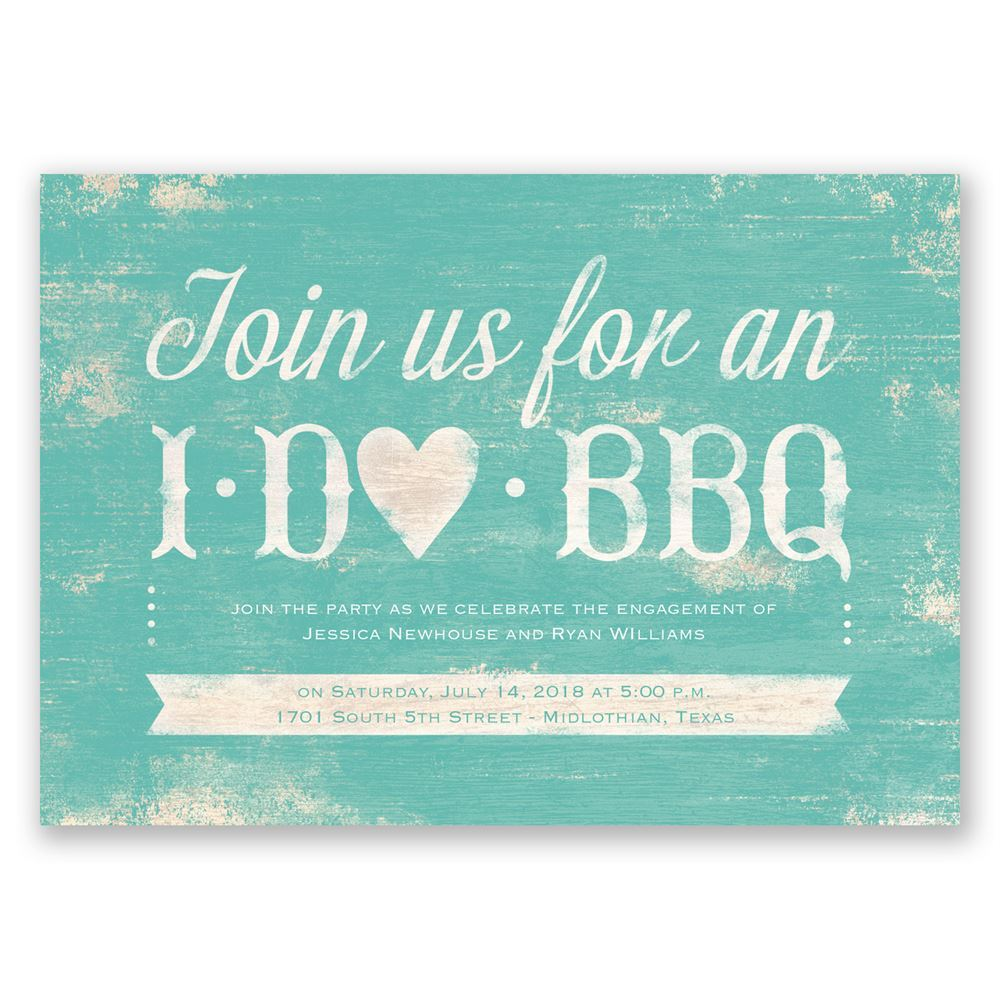 i do bbq engagement party invitation - Engagement Party Invite