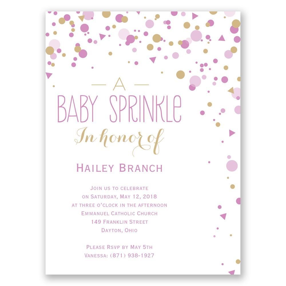 Bright Sprinkles Petite Baby Shower Invitation | Invitations By Dawn
