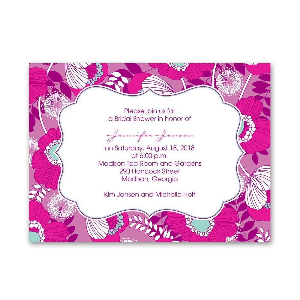 Floral Petite Bridal Shower Invitation   Invitations by Dawn