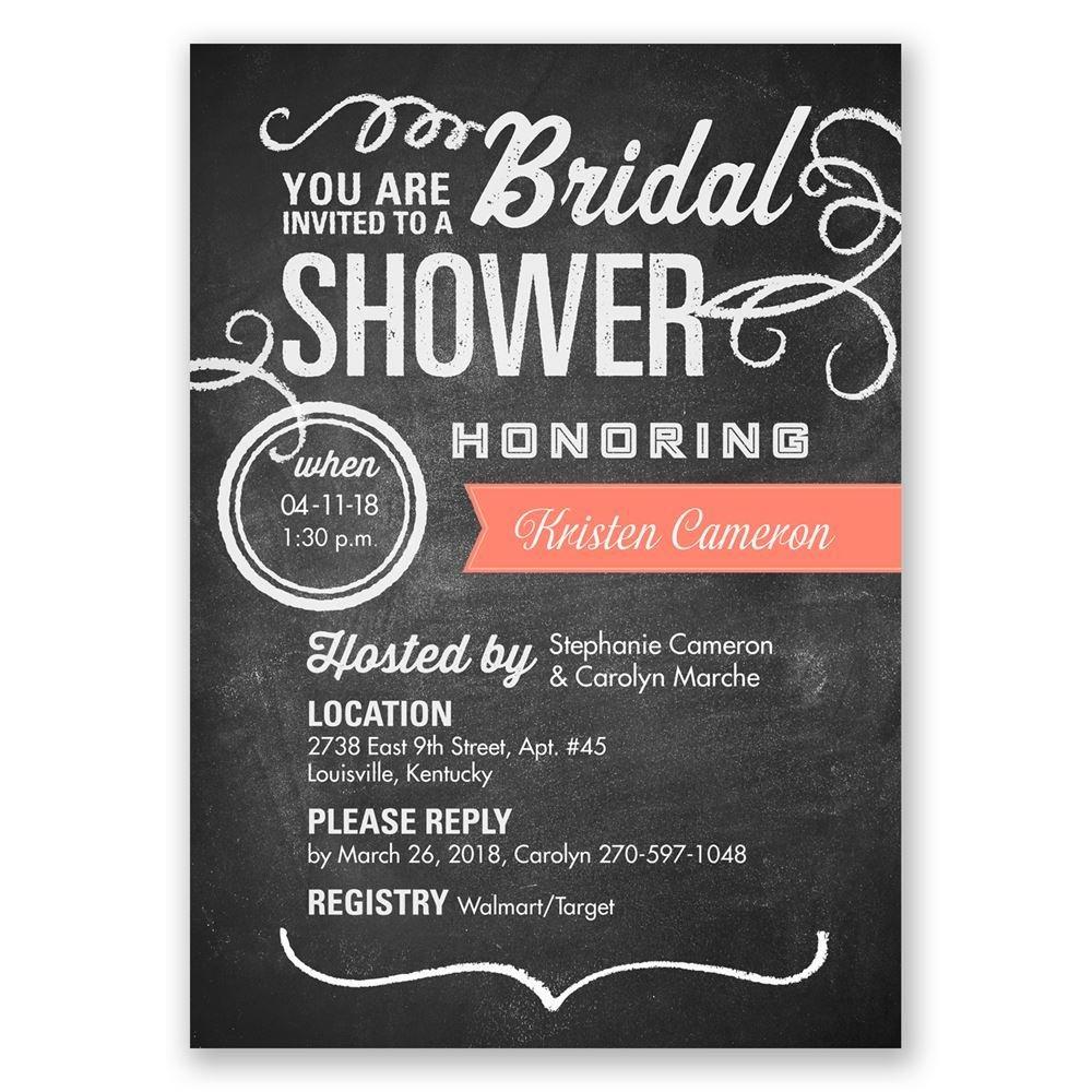 Chalkboard Poster Bridal Shower Invitation