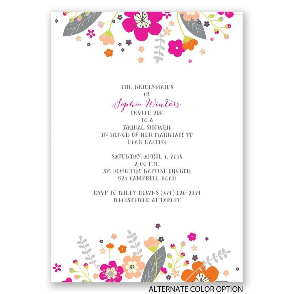 Floral explosion bridal shower invitation invitations by for Flower bridal shower invitations