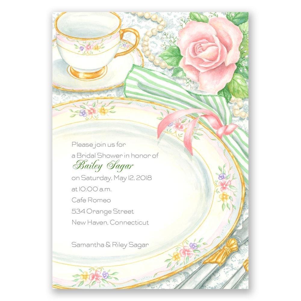 sheer elegance bridal shower invitation