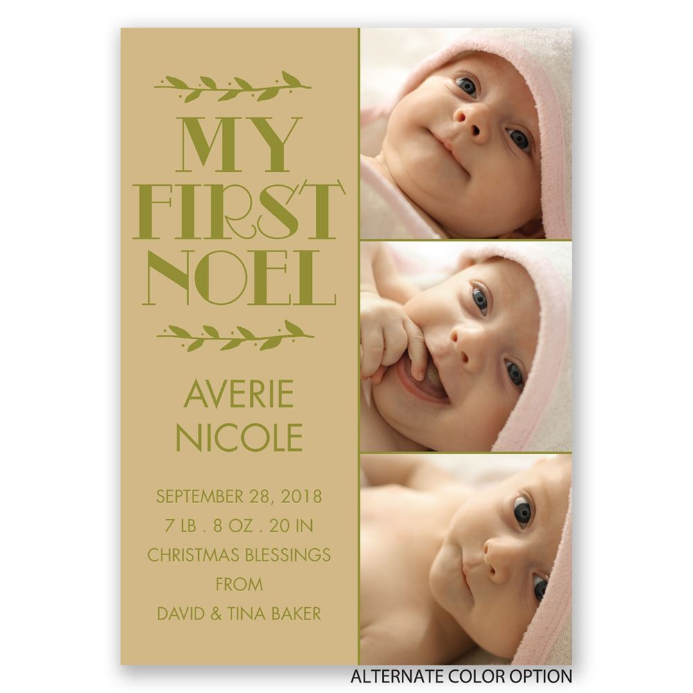 My First Noel Birth Announcement – Photo Birth Announcement