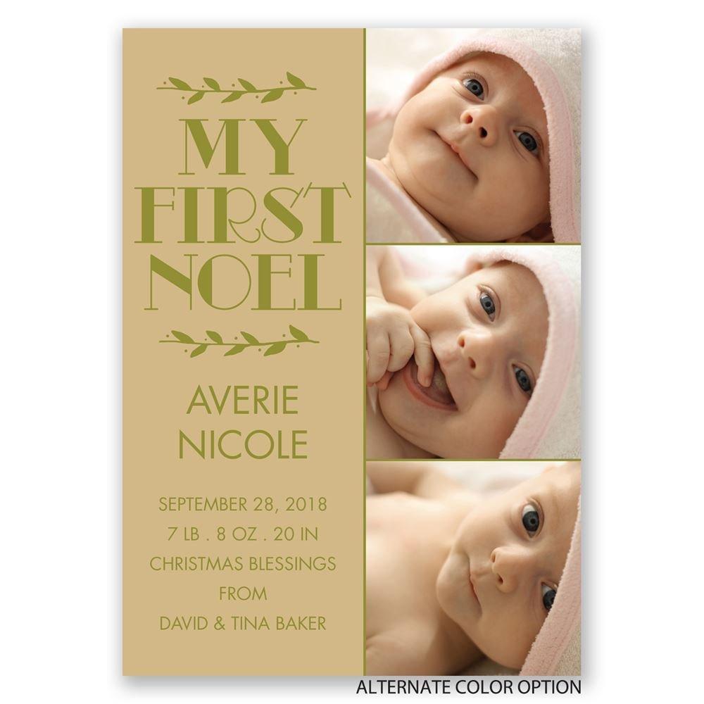 my first noel birth announcement