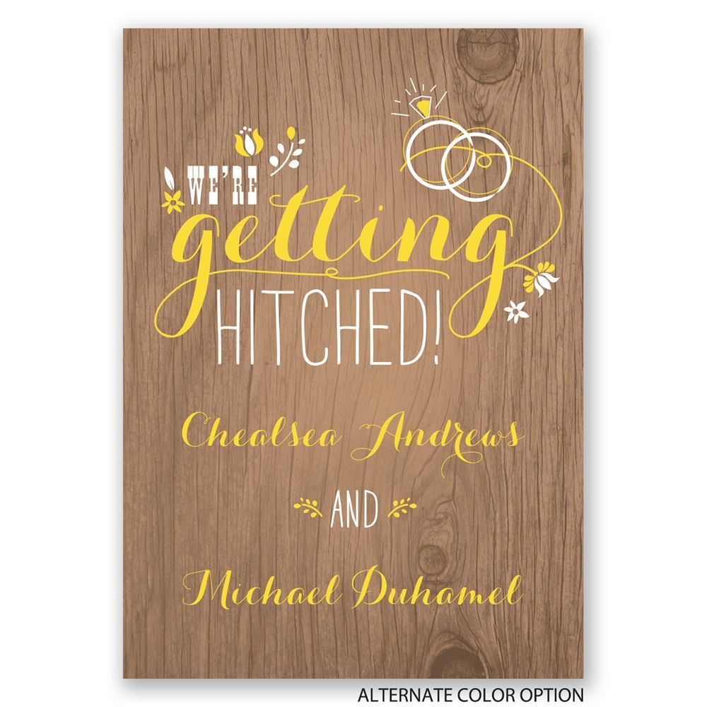 Pretty Rustic Engagement Party Invitation