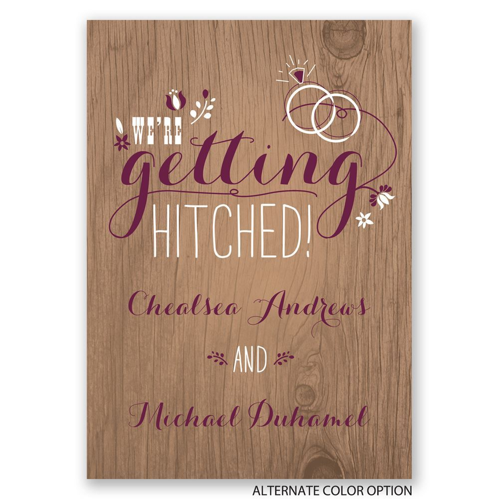 Pretty Rustic Engagement Party Invitation | Invitations By Dawn