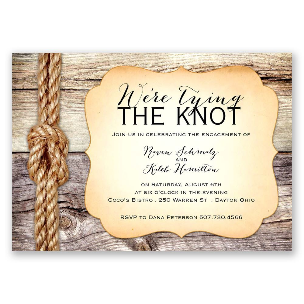 Tying the Knot Engagement Party Invitation Invitations By Dawn