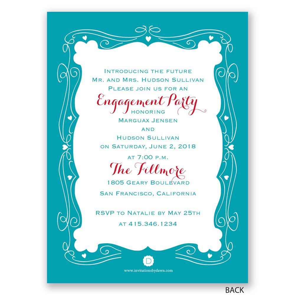 Modern Fairytale Petite Engagement Party Invitation | Invitations ...