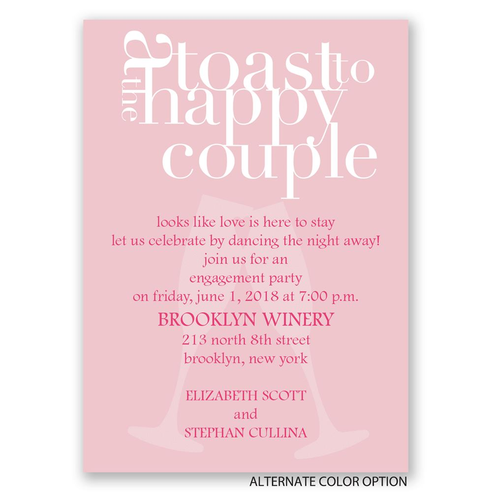 A toast mini engagement party invitation invitations by for Invitation for engagement party