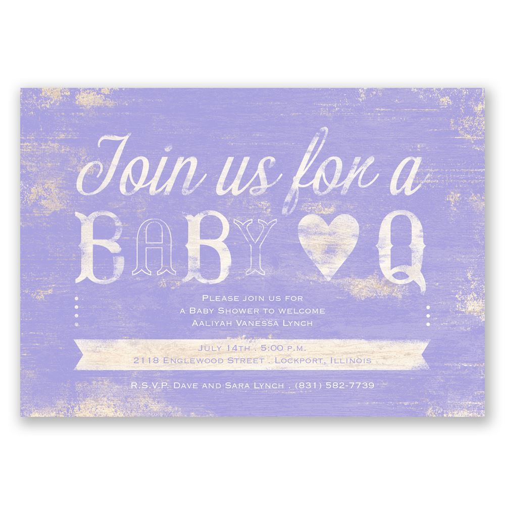 baby q baby shower invitation
