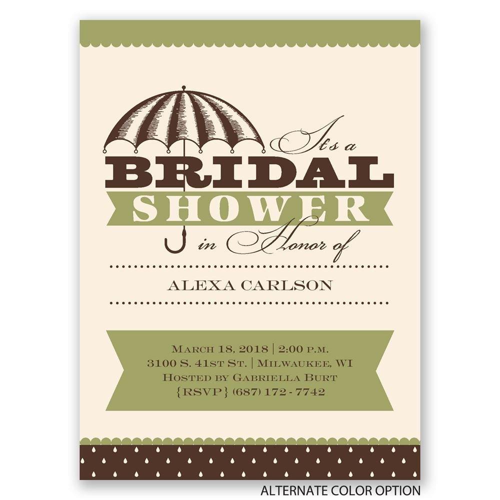 Sweet and elegant petite bridal shower invitation for Elegant bridal shower invitations