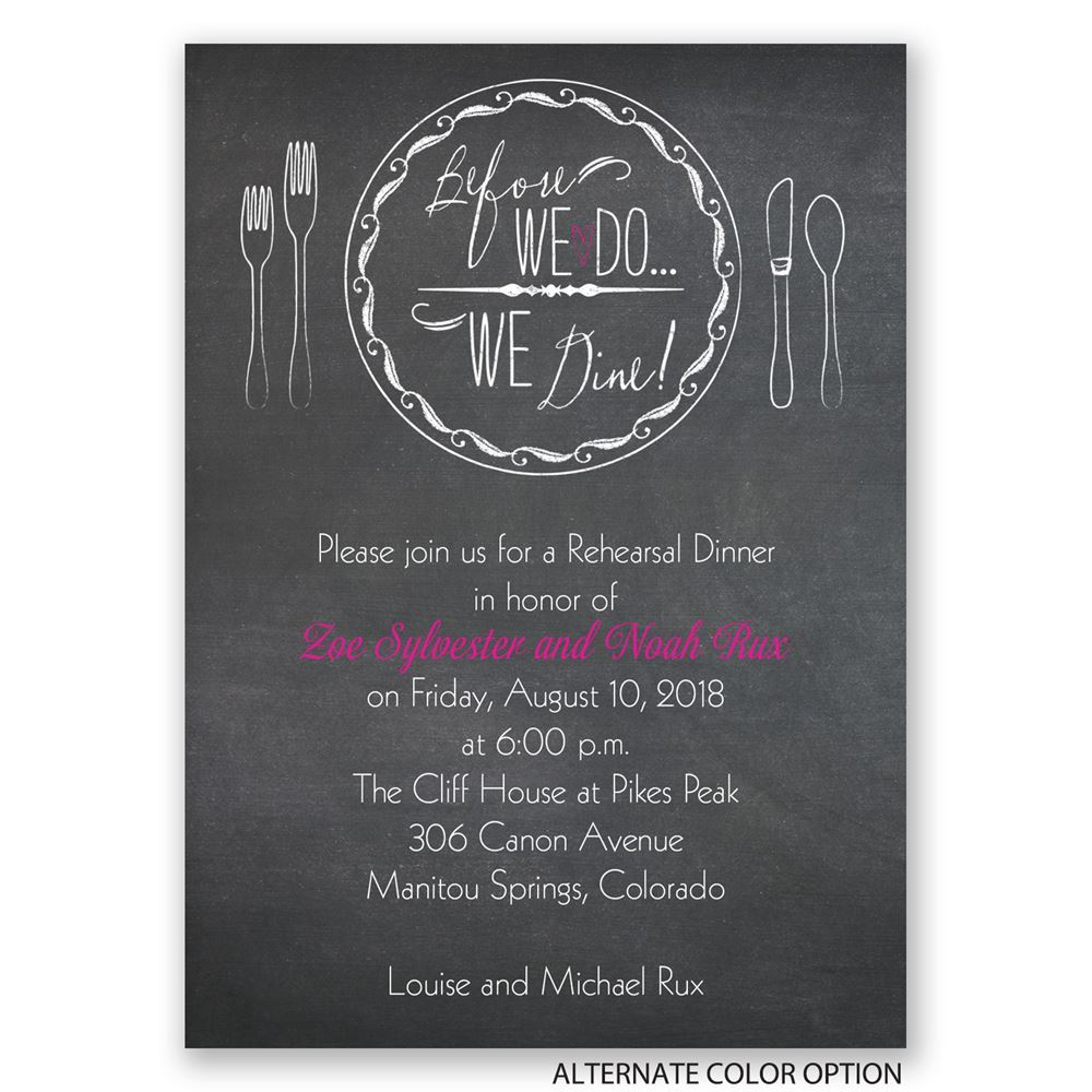 before we do mini rehearsal dinner invitation