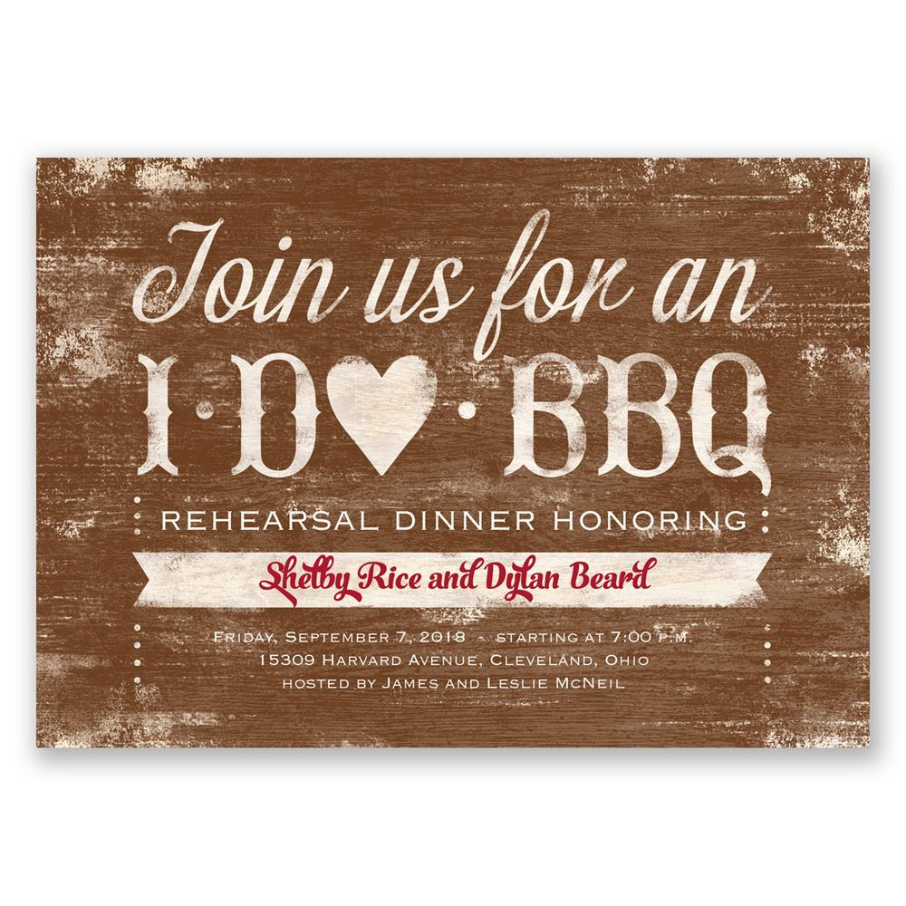 I Do BBQ Rehearsal Dinner Invitation Invitations By Dawn