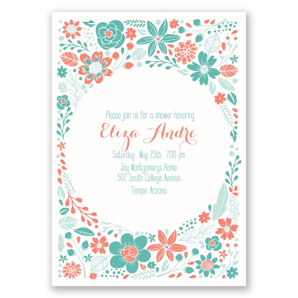 Pretty Little Flowers Bridal Shower Invitation Invitations By Dawn