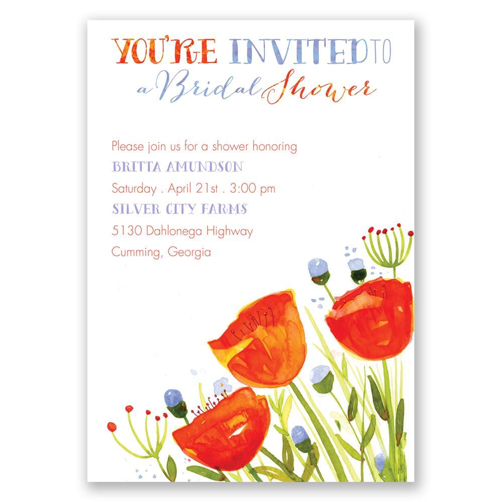 Posies and polka dots bridal shower invitation invitations by dawn posies and polka dots bridal shower invitation filmwisefo