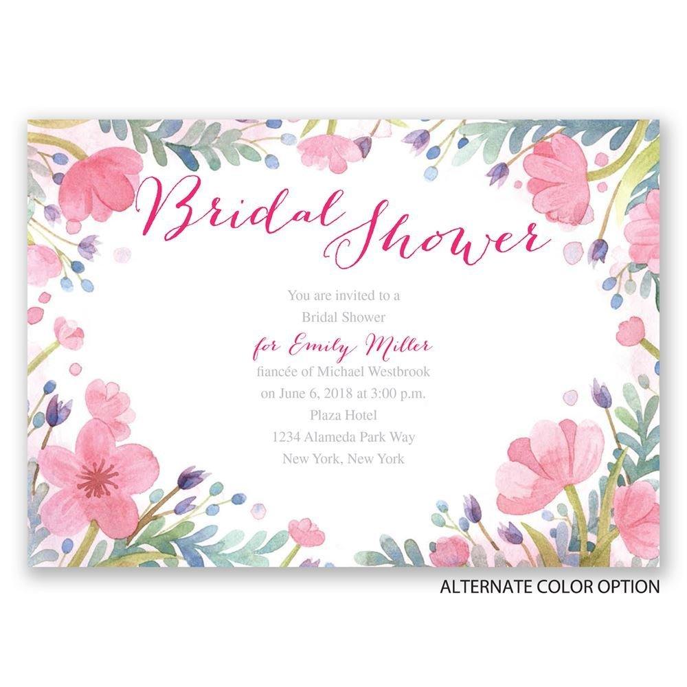 Pastel Floral Bridal Shower Invitation | Invitations By Dawn