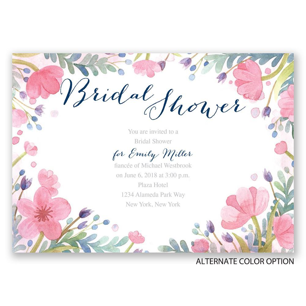 Pastel Floral Bridal Shower Invitation Invitations By Dawn