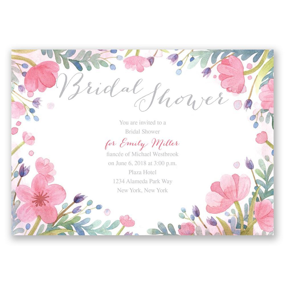 Pastel Floral Bridal Shower Invitation | Invitations By Dawn